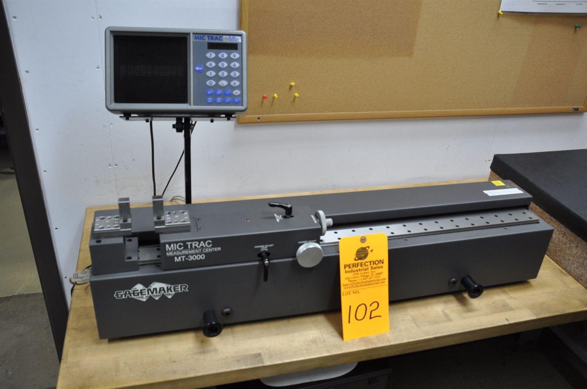 2012 GAGEMAKER MIC TRAC MT 3000 Measurement Center, s/n NA