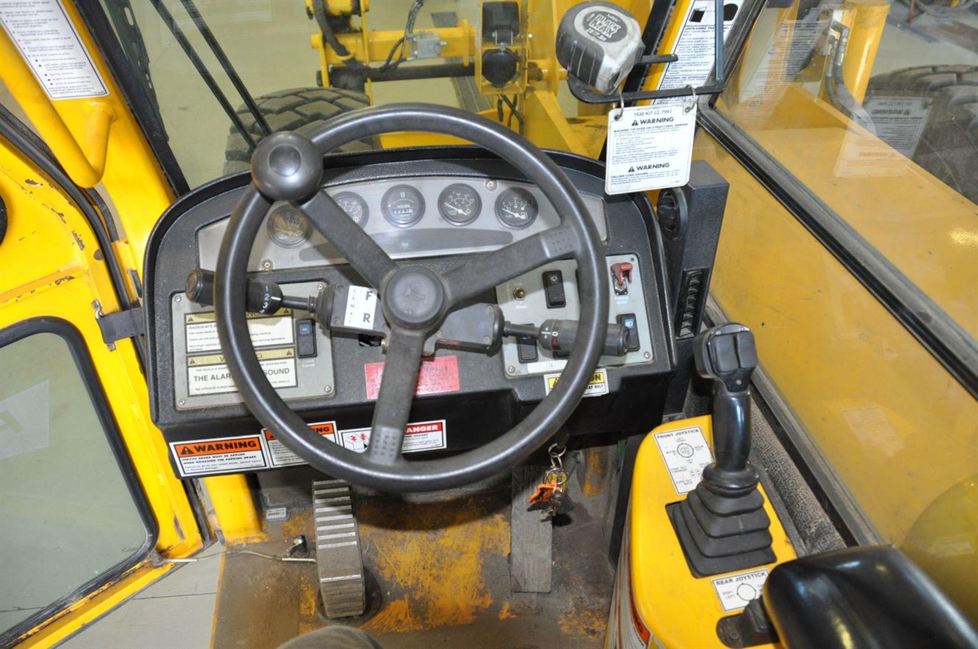 2012 PETTIBONE 1530 EXTENDO Diesel Pipe TeleHandler, s/n EX10230-12, w/ Pipe Clamp Forks, Max Load – - Image 6 of 7