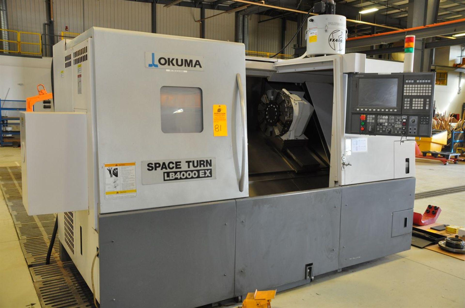 "2012 OKUMA SPACE TURN LB4000 EX CNC Chucker, s/n 161411, w/ OSP-P200LA Control, 3.5"" Bore, SCHUNK"