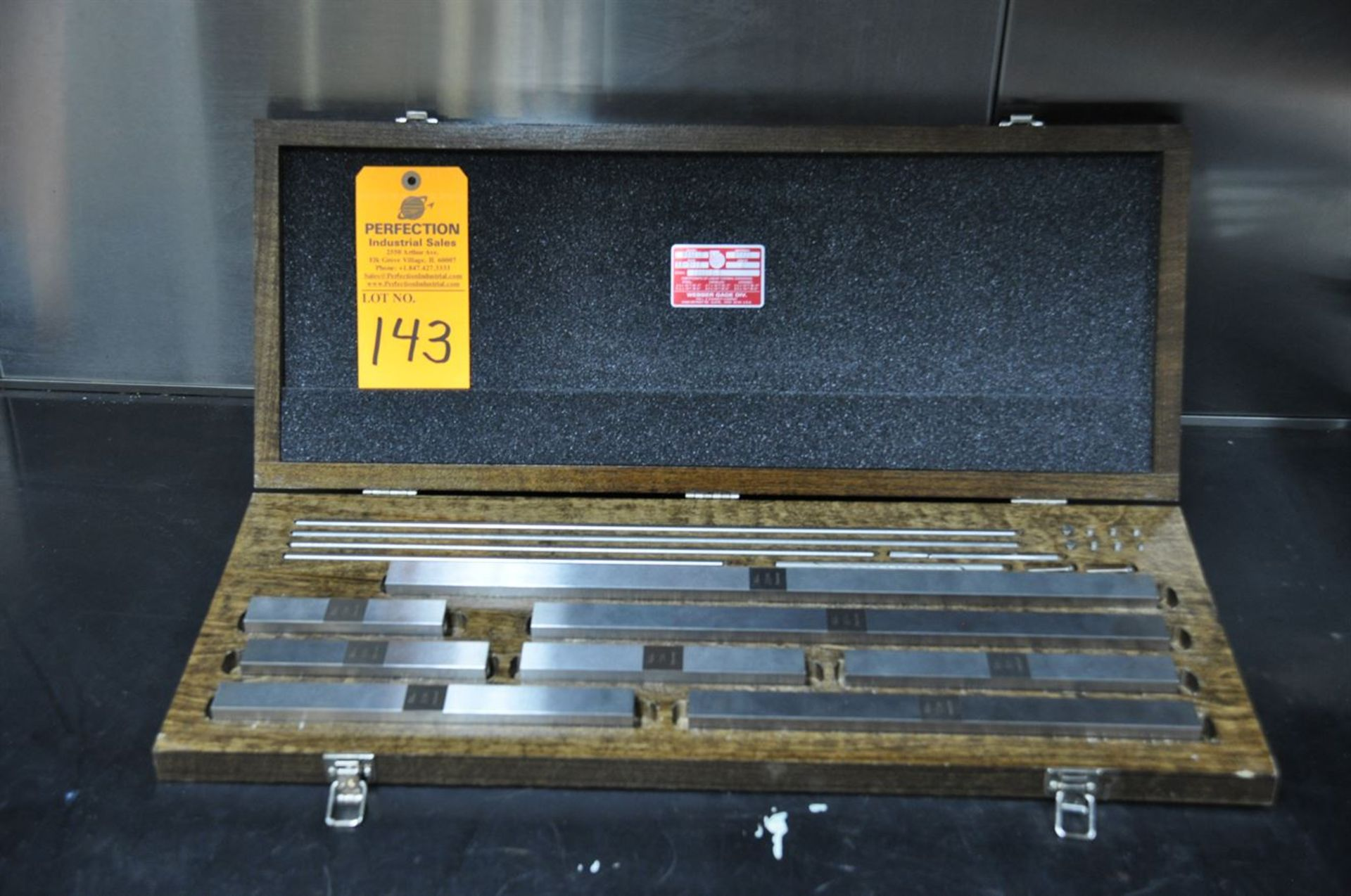 Starrett Webber SS8A1X Grade 0 Steel Gage Blocks
