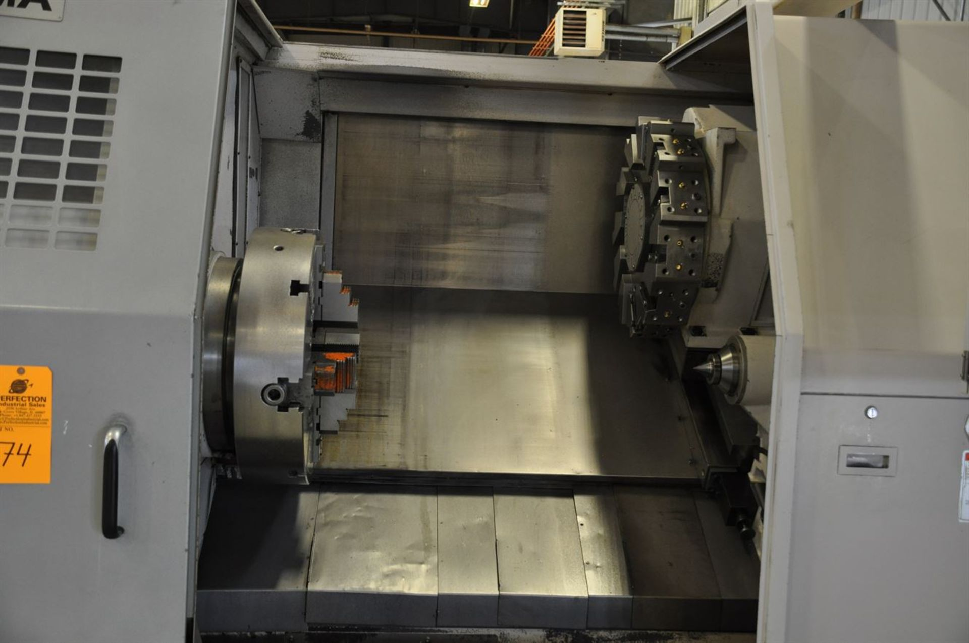 "2012 OKUMA LB35 II Turning Centers, s/n 166500 w/ OSP-P200L Control, 7"" Bore, SCHUNK 600 mm 4 Jaw - Image 3 of 10"