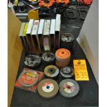"Assorted rolls of Emery Cloth, 6"" grinding wheels and grinding discs"