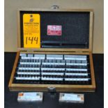 Starrett Webber RS81A1 Grade 0 Steel Gage Blocks w/ clamp and assorted gage holders