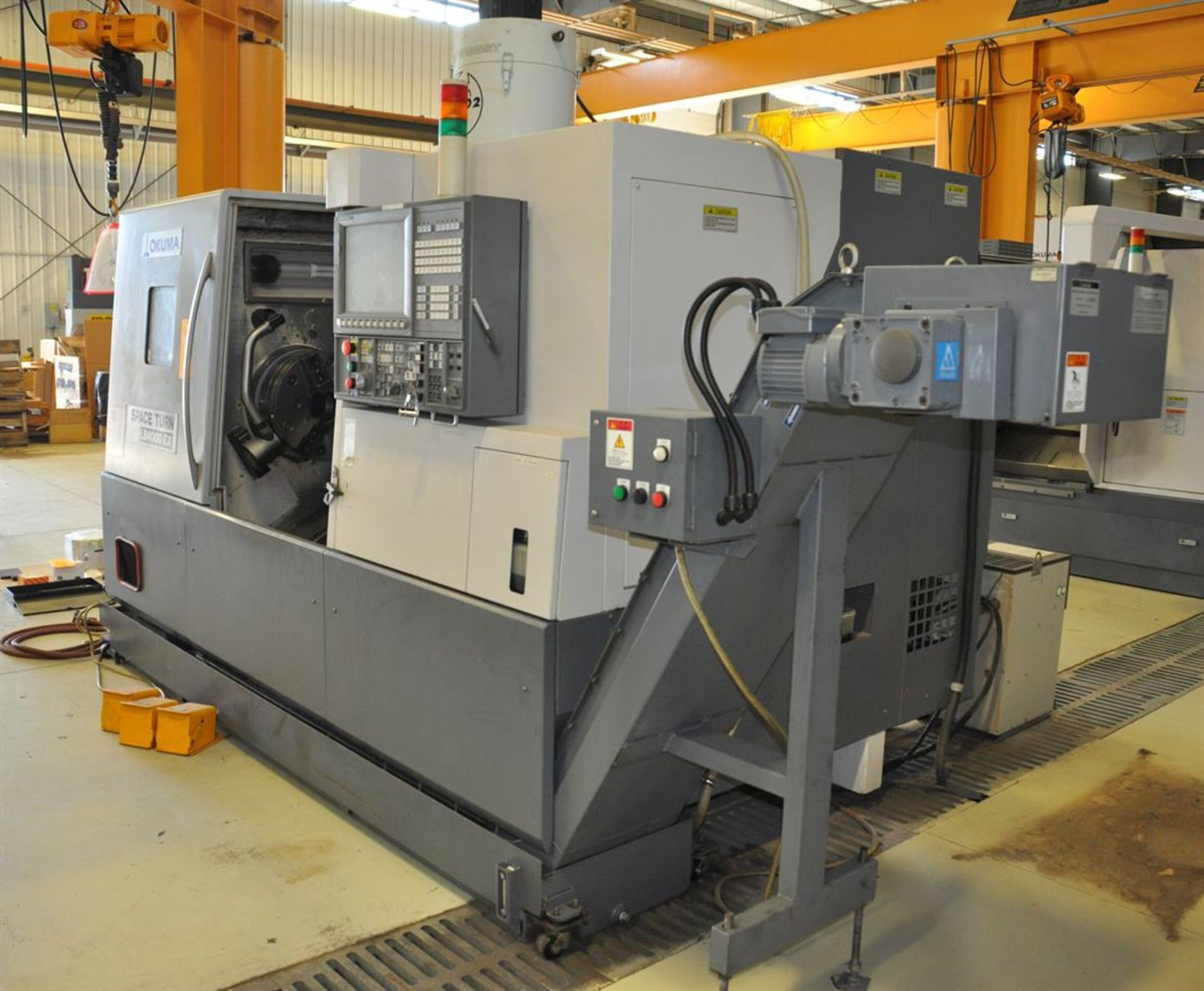 "2012 OKUMA SPACE TURN LB4000 EX Turning Center, s/n 163014, w/ OSP-P200LA Control, 3.5"" Bore, SCHUNK - Image 6 of 8"