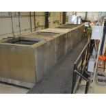 """2015 CUSTOM 6 Stainless Steel Jacketed Tank Phosphatizing System, w/ (6) 48"""" Cube Stainless Steel"""