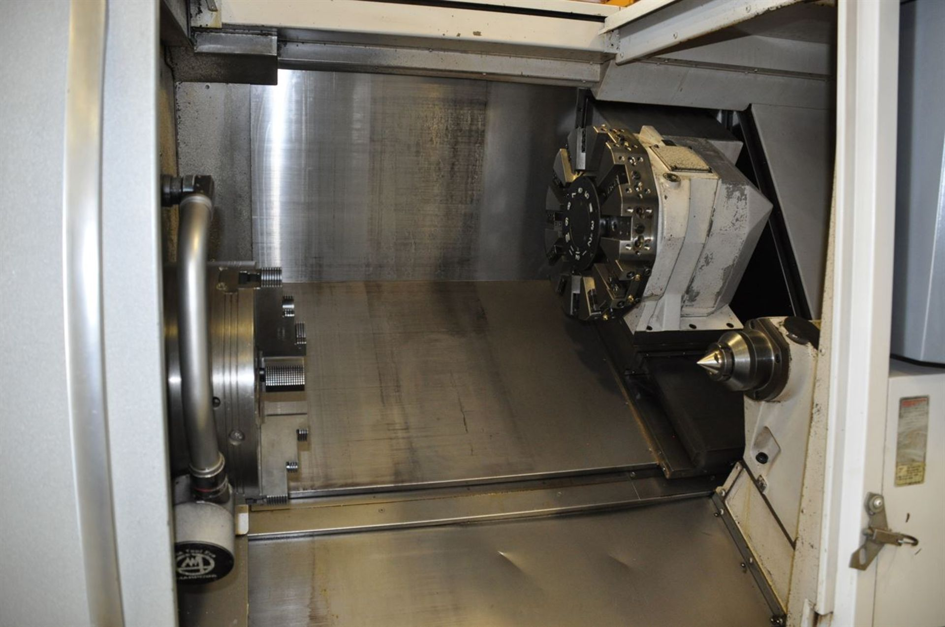 "2012 OKUMA SPACE TURN LB4000 EX Turning Center, s/n 163014, w/ OSP-P200LA Control, 3.5"" Bore, SCHUNK - Image 2 of 8"