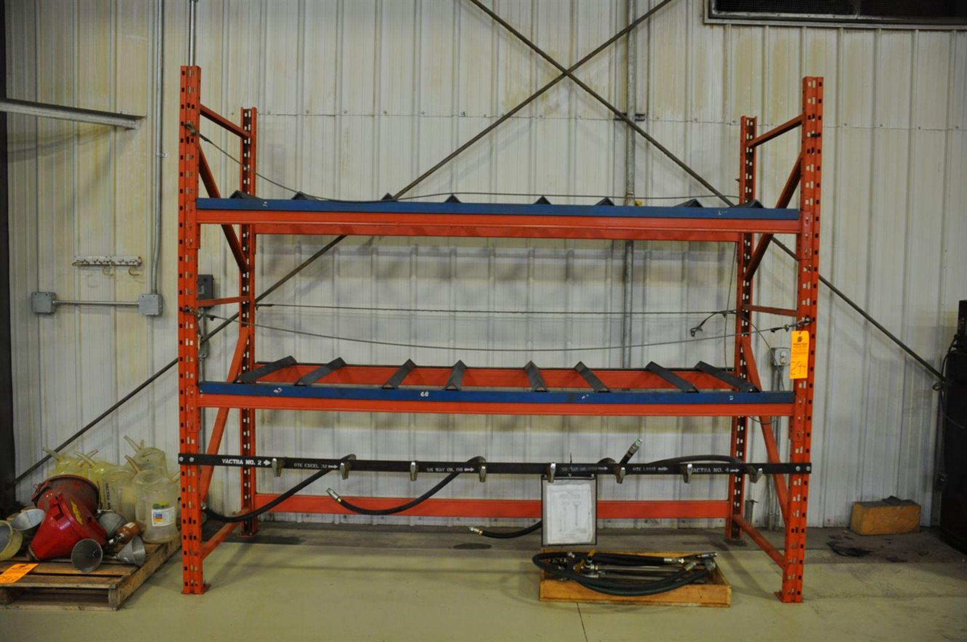 Drum Storage Rack, Capacity 8 drums, w/plumbing