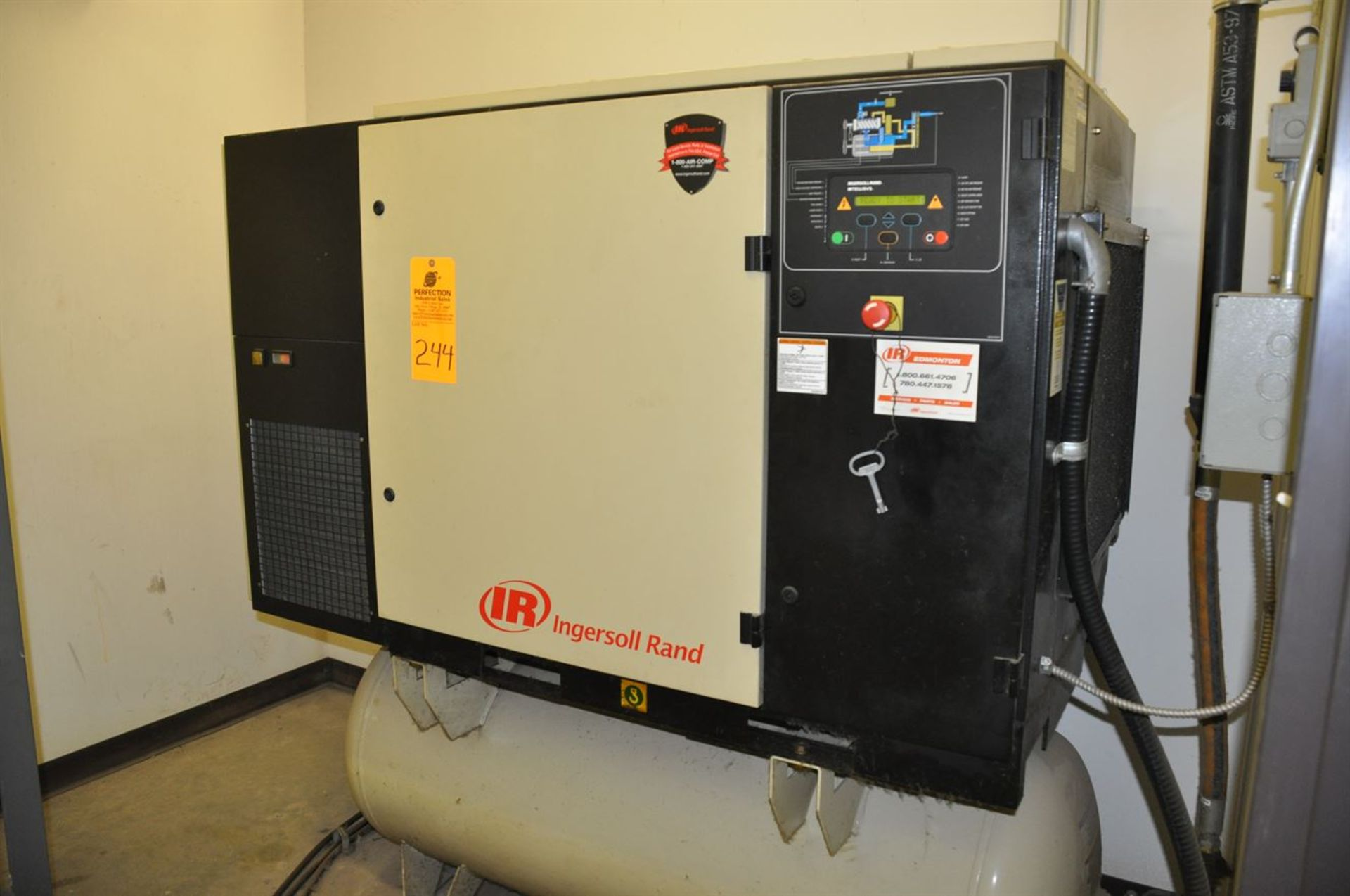 2012 INGERSOLL RAND UP6-30-150 30 hp Air Compressor System, s/n CBV185765, w/ Built-In Air Dryer,