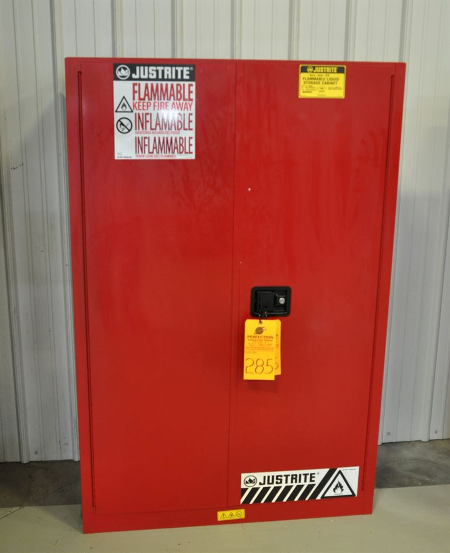 Flammable Materials Storage Cabinets, excluding contents