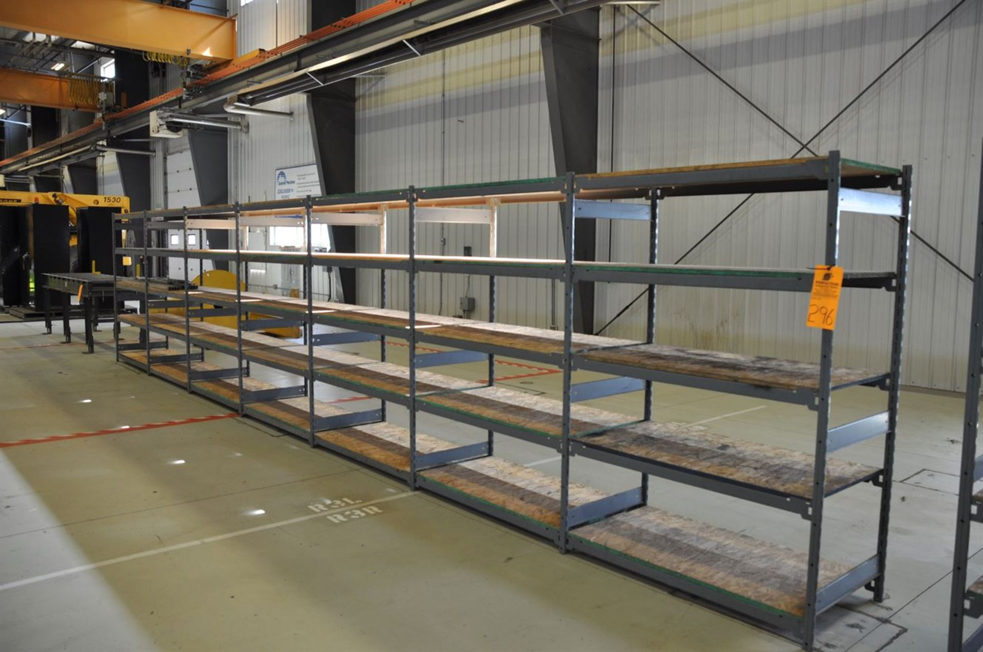 Storage shelving, 7 sections