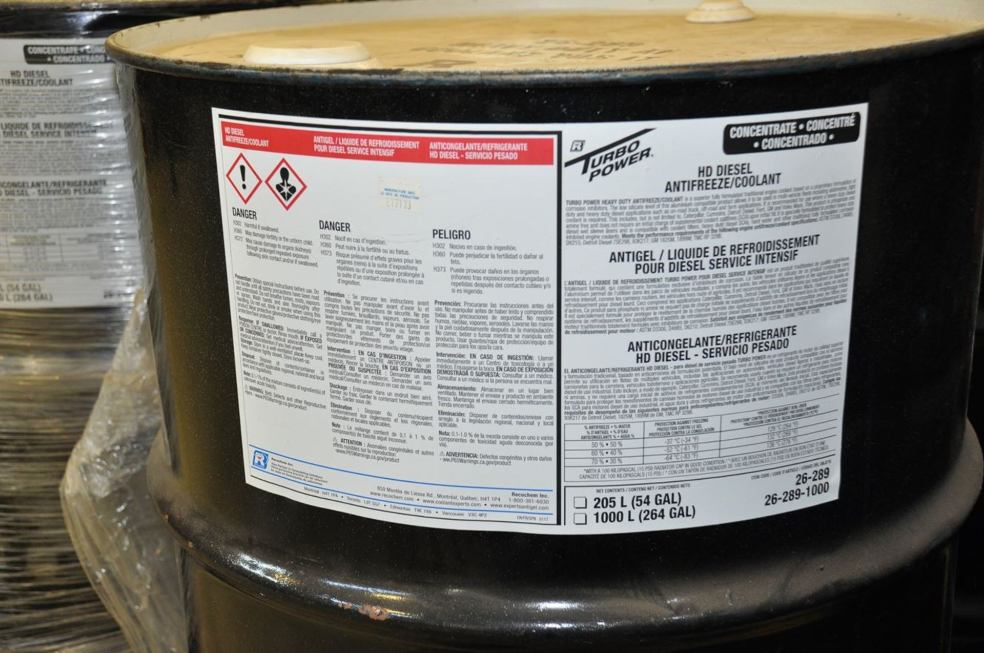 (12) Unopened 205 Litre Drums of HD Diesel Antifreeze/Coolant (Glycol) - Image 2 of 2