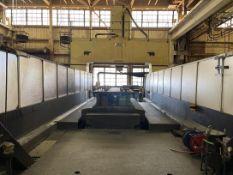 REKO MEDVE-8700WXR Gantry Type Vertical Machining Center, s/n 9601-P-7198, w/ FANUC Series 15M