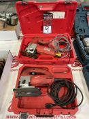 Lot Comprising MILWAUKEE 6266 and MILWAUKEE 6268-21 Electric Jigsaws