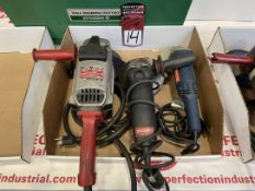 Lot Comprising MILWAUKEE, METABO and RYOBI Electric Grinders