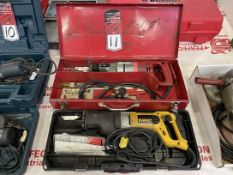 Lot Comprising DEWALT DW308 VS and MILWAUKEE 6511 Electric Reciprocating Saws