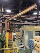 INDUSTRIAL 1/2 Ton Free Standing Jib Crane, Approx. 12' Reach x 12' Under Rail, w/ P & H 1/2 Ton