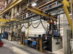 GORBEL Free Standing Crane System, Approx. 4'W x 60'L x 10' Under Rail, w/ FEC Torque System, (L11)