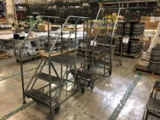 Lot Comprising (2) 3-Step Safety Ladders, and (1) 4-Step Safety Ladder, (23O)