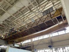 10-Ton MILWAUKEE Double Girder Bridge Crane, Approx. 54' Span, w/10-Ton Milwaukee Electric Hoist