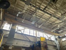 7.5 Ton UESCO Bridge Crane, Approx. 54' Span, w/ 7.5 Ton Detroit Electric Hoist w/ Remote