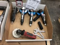 Lot Comprising Assorted Pneumatic Angle Grinders, (25G)