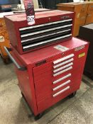 Kennedy Rolling Tool Chest, w/ Craftsman Tool Box (13H)