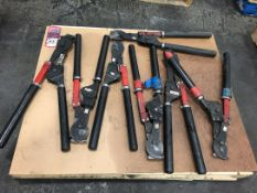 Lot Comprising Assorted Cable Cutters, (21J)