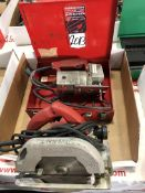 Lot Comprising (1) Milwaukee Electric Jig Saw, and (1) Milwaukee Electric Circular Saw, (25G)