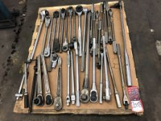 Lot Comprising Assorted Large Socket Wrenches, (25F)