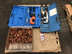 Lot Comprising (1) Huskie EP410 Dieless Crimping Tool, and (1) Dieless Crimping Tool, (21J)