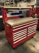 "Stor-Loc Modular Rolling Tool Cabinet, 60x30x66"", w/ 4"" Morgan Chicago Vise (13H)"