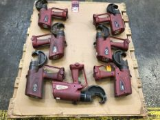 Lot Comprising Burndy PAT750XP-18V Battery Operated Crimping Tools, (25F)