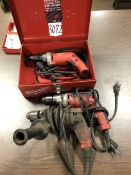 (3) Milwaukee Electric Drills, (H11 H-Building)
