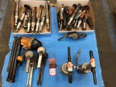 Lot Pneumatic Grinders and (1) Bostitch Pneumatic Nail Gun, (5G)