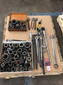 Lot Crescent Wrenches, Socket Wrenches, and Sockets, (7S)
