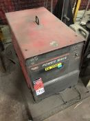 LINCOLN POWER WAVE 455, w/ LINCOLN Wire Feed on Free Standing Hydraulic Boom Stand, (5O)