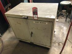 Rolling Steel Shop Cart, (9T)