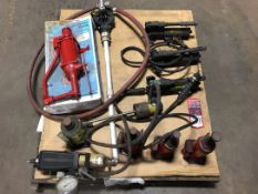 Lot Hydraulic Pumps and Rams, (H11 H-Building)