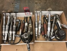 Lot Pneumatic Grinders, Angle Grinders, and Needlers, (7S)