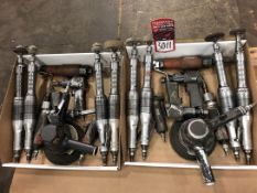 Lot Pneumatic Grinders and Angle Grinders, (7S)
