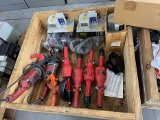 Crate of Hand Grinders and Lubrication Systems (Located in Lafayette, LA)