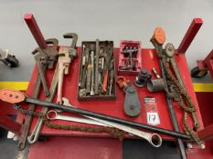 Lot of Hand Tools (Does not include Rack)