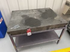 """36""""x48""""x6"""" Black Granite Plate with Ledge on Stand"""