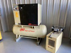 Ingersoll Rand UP6-15C-125 Air Compressor, s/n UP6649U07247, w/ Ingersoll DS50 Dryer