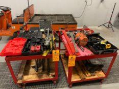 Lot of Hand Tools w/ (2) Metal Carts