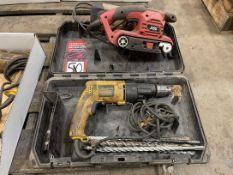 Lot Comprising DEWALT Electric Drill and SKIL Belt Sander