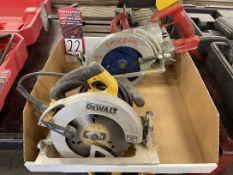 """Lot Comprising DEWALT DWE575SB 7-1/4"""" Circular Saw and SKILSAW SHD77M Worm Drive Saw"""