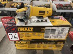 """Lot of (2) DEWALT DWE4120N 4-1/2"""" Angle Grinders"""