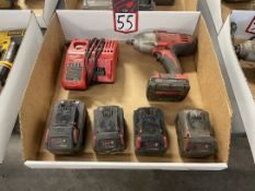 """Lot of MILWAUKEE Cordless 1/2"""" Impacts a/ Batteries and Charger"""
