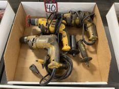 Lot of (3) DEWALT Electric Drills